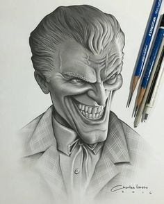 """New Joker drawing by artist: @charles_laveso #artinspires #theartisthemotive ."""