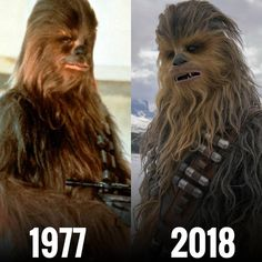 Then/Now #Chewbecca