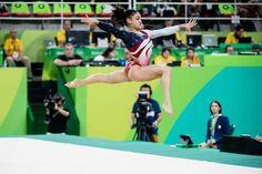 Laurie Hernandez on floor Gymnastics History, Gymnastics Facts, Gymnastics Images, Gymnastics Quotes, Sport Gymnastics, Usa Olympics, Rio Olympics 2016, Summer Olympics, Lauren Hernandez