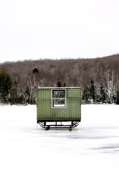 Cabin Porn – Ice shanties captured throughout New England