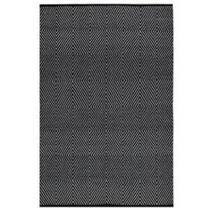 Indo Hand-woven Zen Black/ Bright White Geometric Area Rug (6' x 9') | Overstock.com Shopping - Great Deals on 5x8 - 6x9 Rugs