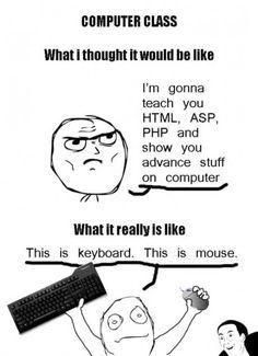 Computer class at my school