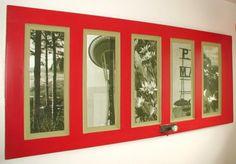 Puerta reciblada marco de fotos