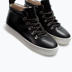 ZARA - SHOES & BAGS - LEATHER HIGH-TOP SNEAKER