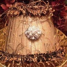 Jewel embellished candlestick lampshade $15.00