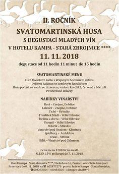 Svatomartinské hody - svatomartinské husa - Hotel Kampa Stará zbrojnice