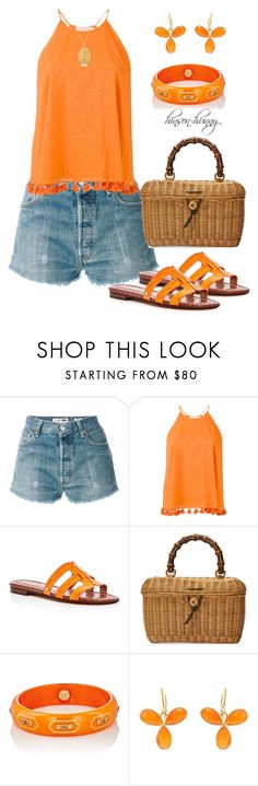 """Stress free zone"" by hinson-hunny ❤ liked on Polyvore featuring RE/DONE, Tory Burch, Sam Edelman, Gucci and Mark Davis"