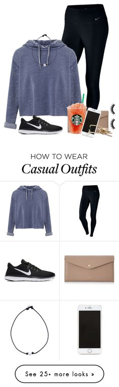 """Keepin it Casual"" by oliviamtraxler on Polyvore featuring Morphe, NIKE, Miss Selfridge, Cuero&Mør and Forever 21"