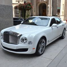 Stunner! Glacier white Bentley Mulsanne LeMans. Why LeMans? Click to find out... #spon
