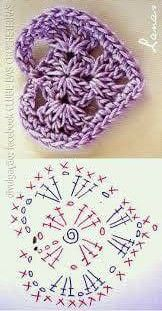Crochet flowers 583990276665505744 - Crochet Heart Flower Valentines Ideas For 2019 Source by veroyounash Motif Mandala Crochet, Crochet Flower Patterns, Crochet Stitches Patterns, Crochet Chart, Crochet Squares, Crochet Flowers, Knitting Patterns, Crochet Mittens, Crochet Gifts