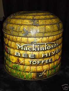 I will not tell anyone how much I spent on this hive-shaped toffee tin.