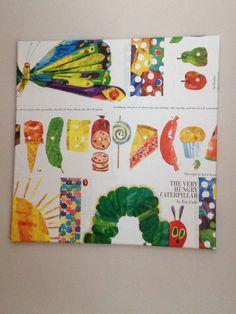 Hungry Caterpillar canvas DIY