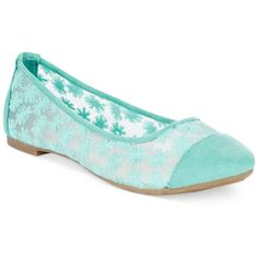 Rampage Larry Ballet Flats ($27) ❤ liked on Polyvore featuring shoes, flats, mint, mint ballet flats, ballet shoes, ballet flats, flat pumps and ballerina flat shoes