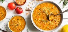 Get ready to feast on this culinary creation. This dairy-free, creamy tomato lentil soup is incredibly satisfying and packed with protein. Raw Vegan Recipes, Cooking Recipes, Seitan, Tempeh, Lentil Soup, Lentils, Dairy Free, Curry, Fruit