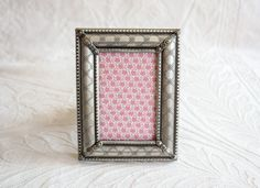 Small Silver Metal Picture Frame, Vintage Photo Frame, 3 1/2 x 2 1/2 inch