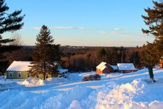 Fruitlands Museum after the Blizzard of 2015