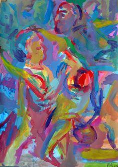 guillaume pelican (©2013 artmajeur.com/neofauve) peinture acrylique sur papier .
