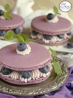 Macarons, Mini Cafe, Macaroon Recipes, Cake & Co, Felt Food, Pastry Cake, My Recipes, Cravings, Blueberry
