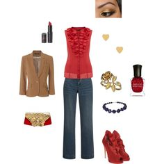 Valentine's Day Casual, created by erica-macy-lesperance.polyvore.com