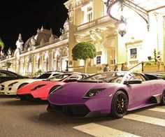 I'll take the pink Lambo...and maybe that purple one......and you can add on the white Benz. :))
