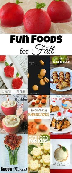 Fun Foods for Fall collected by The Melrose Family
