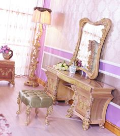 dressing table set Luxury Home Furniture, Dressing Table Set, Sofa Chair, Wood Carving, Dining Chairs, Room, Coffee, Home Decor, Bedroom