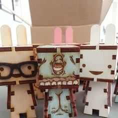 Laser cut toys from Unpossible Cuts