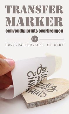 DIY: Transfer Marker -simple transfer prints on fabric, wood, paper and clay