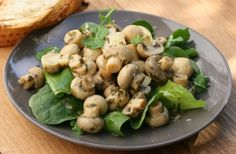 Pickled mushrooms with herbs, garlic and balsamic