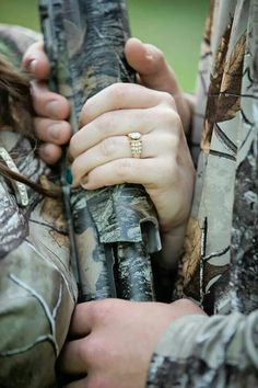 The Hunt is Over!  Engagement pictures. Ring picture.