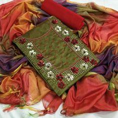 Phulkari Embroidery, Embroidery On Kurtis, Embroidery Suits, Sharara Suit, Churidar, Punjabi Suits, Pure Silk, Designer Dresses, Sarees