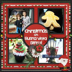 Christmas on Buena Vista Street | Little Rad Trio: It's Santa Time; Lissykay Designs: Squared All Over; Wendy Tunison Designs: Me and My Shadow