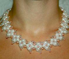 Collana elegante schema gratis perline