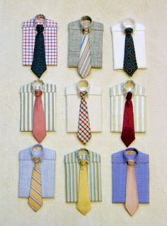 Great shirt and tie combos!