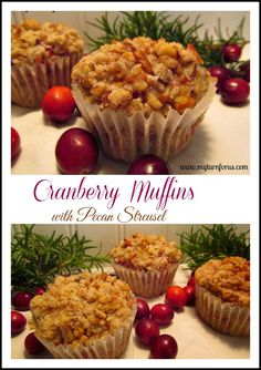 Cranberry Muffins with Pecan Streusel!  http://www.myturnforus.com/2013/12/cranberry-muffins-with-pecan-streusel.html