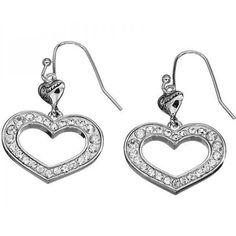Guess Jewellery Orecchini pendenti cuori e cristalli UBE11218 GioielliVarlotta