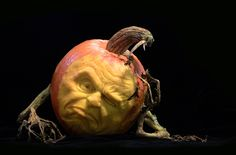 Amazing Pumpkin Art by Ray Villafane - Sculpted pumpkins by artist Ray Villafane. Villafane and artist Andy Bergholtz are in Las Vegas carving pumpkins that will be displayed at Heidi Klum's Halloween party and other Halloween weekend events at Tao in the Venetian and Lavo in the Palazzo. Photos courtesy of Ray Villafane Studios.