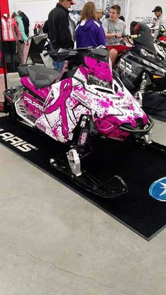 Pink snowmobile :)