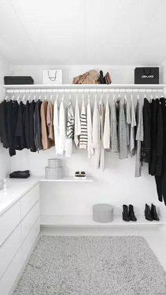 Trendy Bedroom Closet Organization Wardrobe Organisation Tips Walk In Closet Design, Closet Designs, Wardrobe Organisation, Closet Organization, Organization Ideas, Storage Ideas, Wardrobe Storage, Closet Storage, Storage Design
