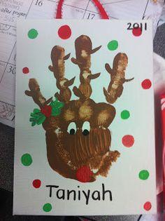 Kindergarten Cupcake Crumbs: Christmas reindeer
