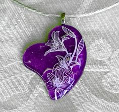 Heart Fused Glass Necklace Sterling Silver Jewelry Dichroic Jewelry Fused Glass Jewelry Glass Jewelry Mothers Day. $79.00, via Etsy.