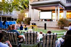 outdoor movie party- i so want to do this next summer when we have a yard!