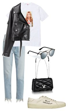 """""""Untitled #832"""" by elipenaserrano ❤ liked on Polyvore featuring M.i.h Jeans and Yves Saint Laurent"""