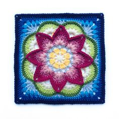 Please note: This pattern, Lotus Moon, contains only the instructions for making a 12 inch afghan block.