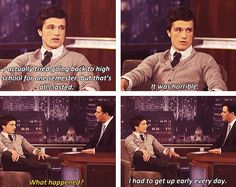 Hahaha! Oh Josh Hutcherson. Silly, Josh Hutcherson. (He looks really good in this interview.)