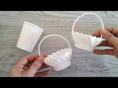 AMAZING DIY BASKET FROM PAPER CUP   VERY EASY   Perfect for Wedding Giveaways   Paper Craft Ideas - YouTube Paper Cup Crafts, Recycled Paper Crafts, Christmas Paper Crafts, Egg Crafts, Diy Paper, Paper Cups, Paper Basket Diy, Basket Crafts, Diy Crafts For Home Decor