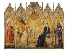 The Annunciation and Two Saints (Annunciazione E Due Santi) Art Print
