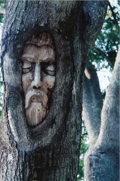 One of the Tree Spirits of St. Simons Island, Georgia. Sculptor: Keith Jennings.