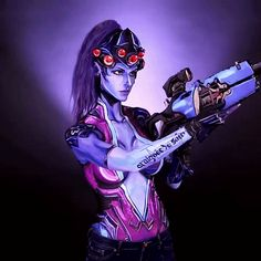Fantastic Widowmaker bodypaint by Kay Pike [Overwatch]