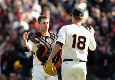My favorite catcher and one of my favorite pitchers :D